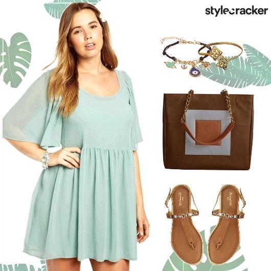 Summer Dress Tanflats Tote Casual - StyleCracker