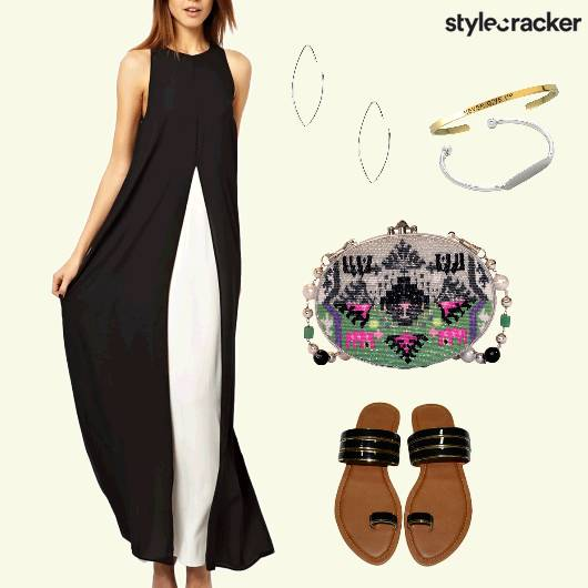 Maxidress Casual Summer Flats Embellished Sling - StyleCracker