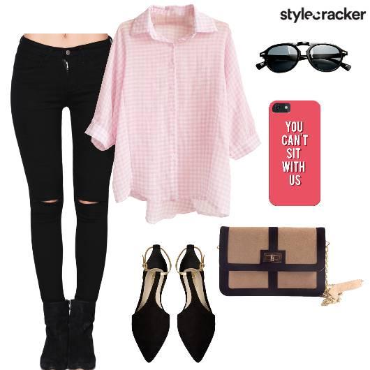 Buttondown Shirt Pants Slingbag Casual - StyleCracker