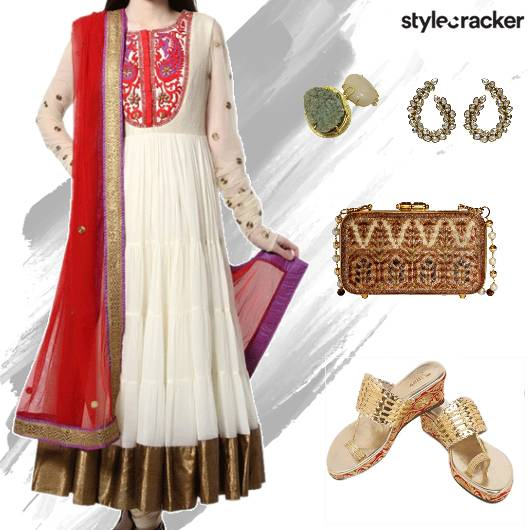 Festive Ethnic Indian Anarkali Wedding - StyleCracker