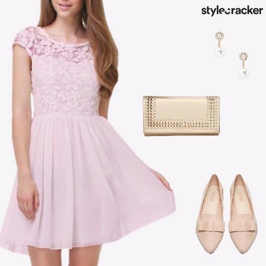 Lunch Summer Dress PearlEarrings - StyleCracker