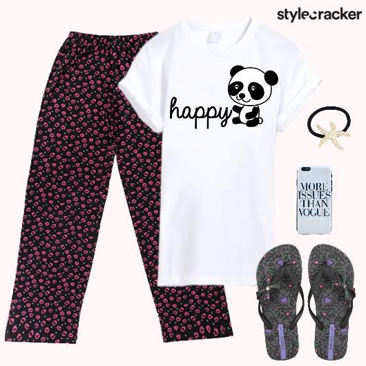 PyjamaParty TShirt Flats MobileCover - StyleCracker