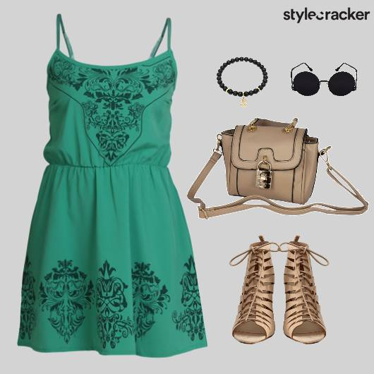 SummerDress SlingBag Sunglasses Lunch - StyleCracker