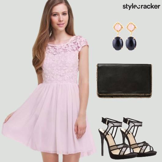 Floral Dress Heels Party - StyleCracker