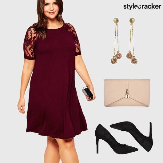 Lace Dress Dinner NightOut Heels  - StyleCracker