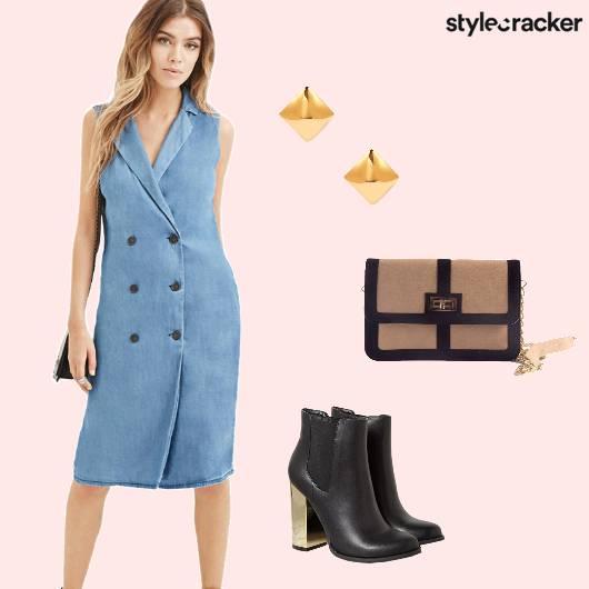 BlazerDress NightOut Boots SlingBag  - StyleCracker