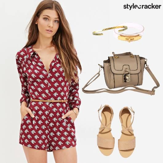 Romper Casual Printed Daywear - StyleCracker
