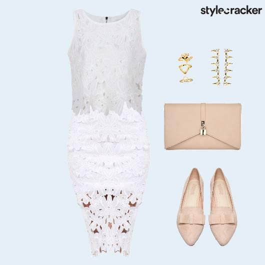 CropTop Lace Clutch Flats RingSet - StyleCracker