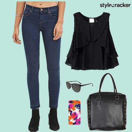 Denim Jeans LayeredTop AfterHours - StyleCracker