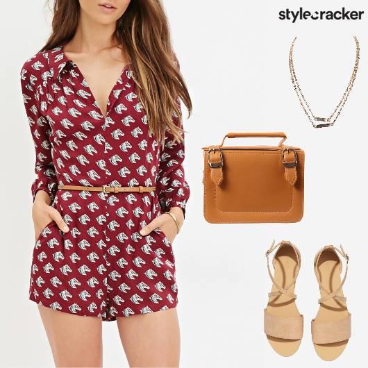 Casual Summer Shopping Romper Flats - StyleCracker