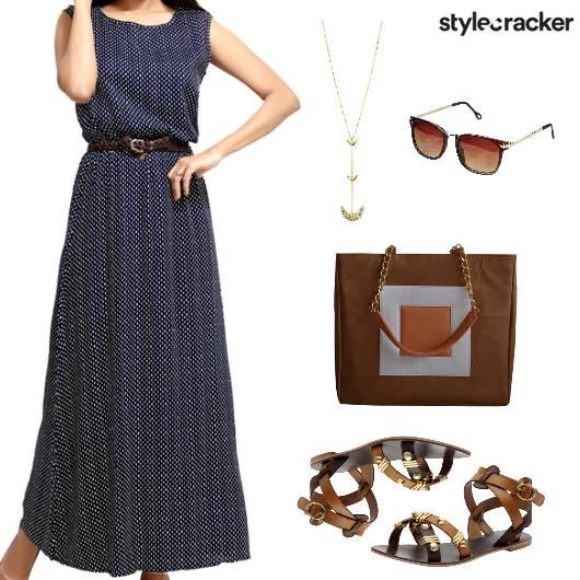 Casual Summer Maxi Dress Flats - StyleCracker