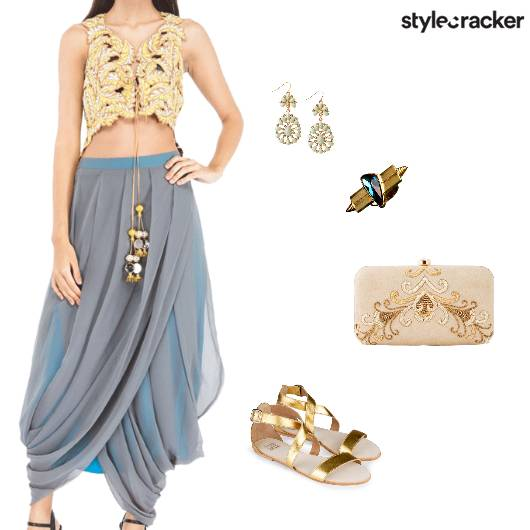 Fusion Ethnic Party Embellished - StyleCracker