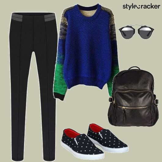 Sweatshirt Sunglasses Backpack Casual - StyleCracker