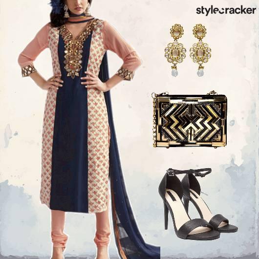 Indian Churidar Kurta Festive  - StyleCracker