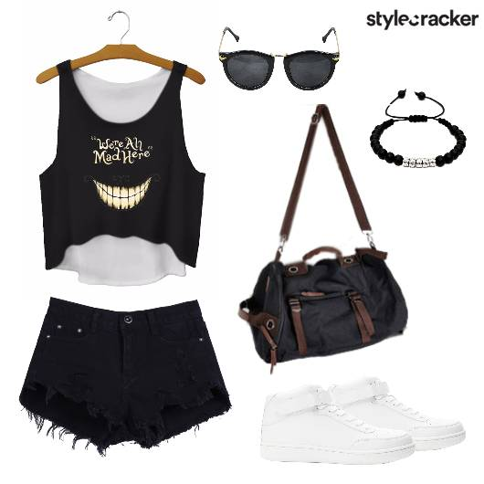 Tank Top Ripped Shorts Summer - StyleCracker