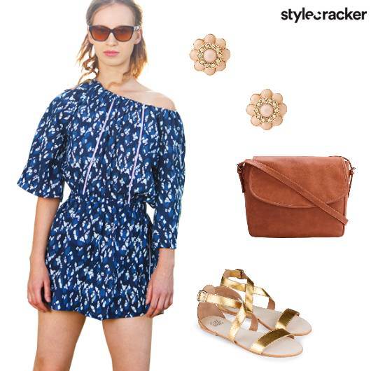Romper Blues Summer Casual StrappyFlats  - StyleCracker