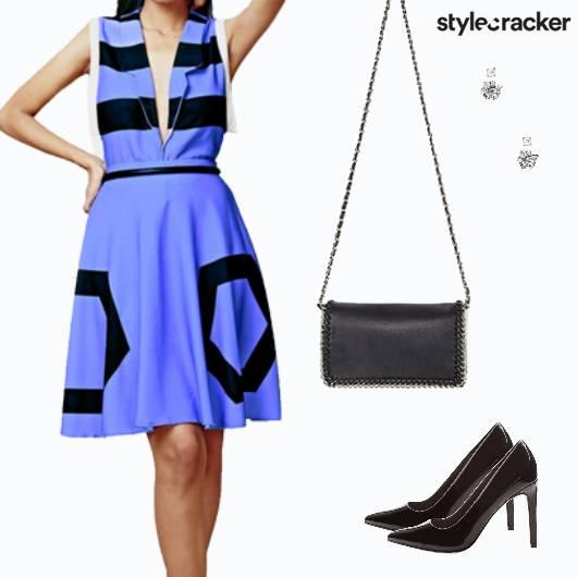 Twinset Top Skirt Party Blue - StyleCracker