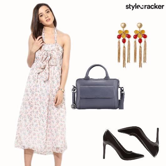 Floral Heels Earrings Summer Casual  - StyleCracker