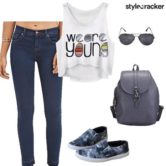 Casual College BackPack SlipOns  - StyleCracker