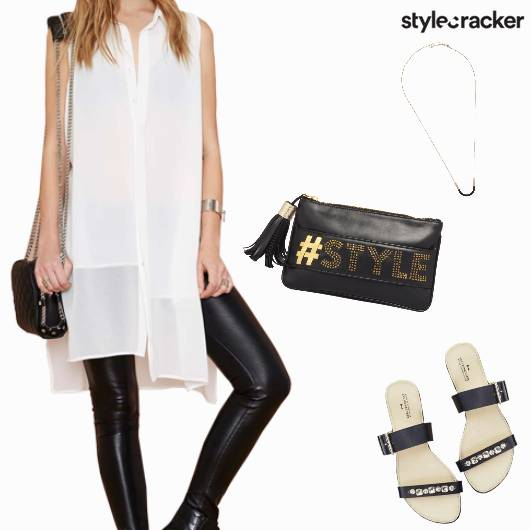Casual Event LongShirt Clutch Flats - StyleCracker