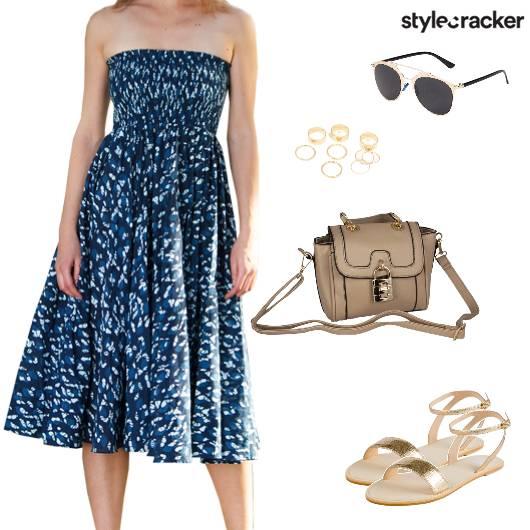Casual Vacation Midi Dress SlingBag - StyleCracker