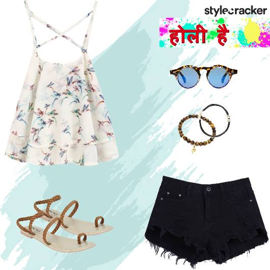 Holi Casual Top Shorts - StyleCracker