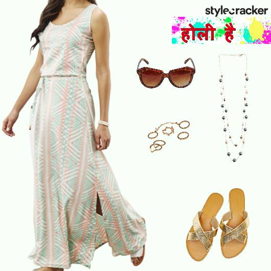 Holi Maxi Dress Casual - StyleCracker