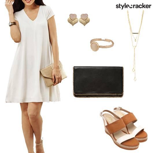 VNeck Dress Summer Brunch Casual - StyleCracker