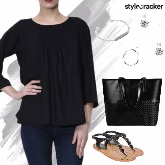 Pleated Top Jeans Casual Basics Summer - StyleCracker
