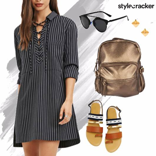 Stripe Shirt Dress Casual Summer - StyleCracker