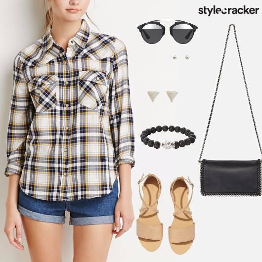 Plaid Shirt Casual Summer College - StyleCracker