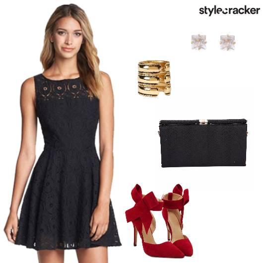 Dress Heels Clutch Studs Cocktail - StyleCracker