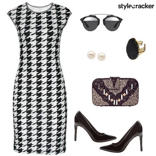 Houndstooth Night Party Glam - StyleCracker