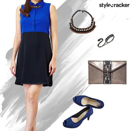 Lunch Dress ColourBlock Necklace - StyleCracker