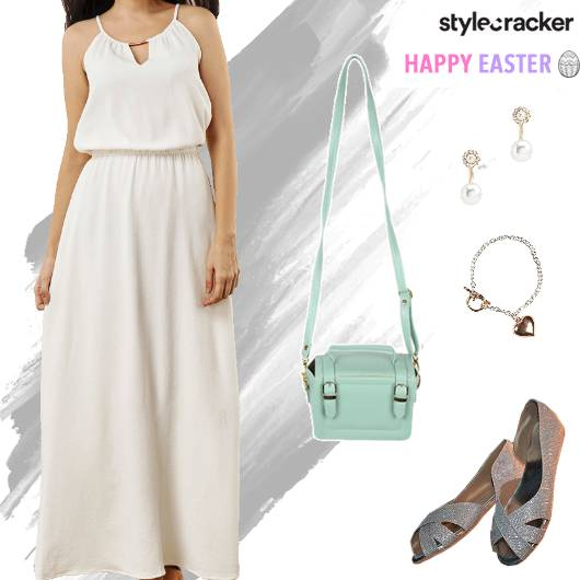 Lunch Dayout Easter Maxi Dress - StyleCracker