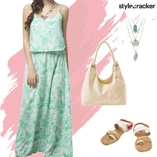Casual Dayout Summer Printed Maxi Dress - StyleCracker