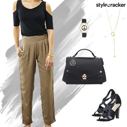 Formal Work Meeting ColdShoulder - StyleCracker