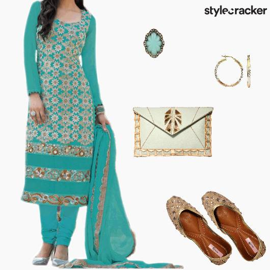FEstive Ethnic Indian Suit  - StyleCracker