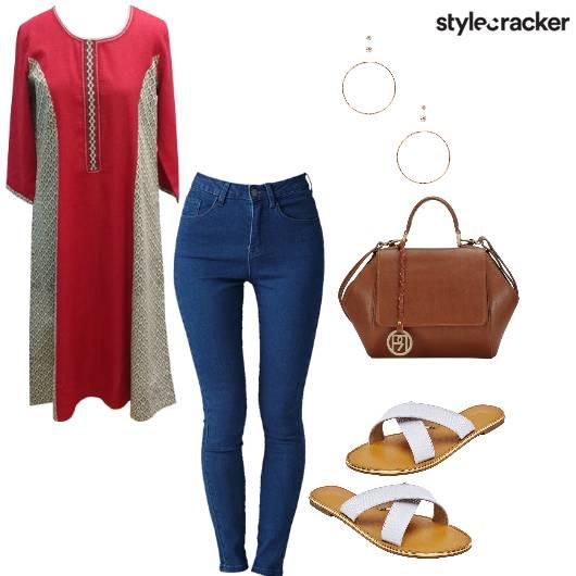 EverydayIndian Kurta Jeans Flats - StyleCracker