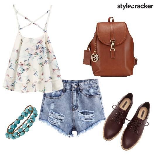 SummerReady Shorts FloralTop Oxfords - StyleCracker