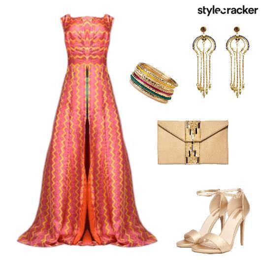 SummerWedding FrontSlit Indian  - StyleCracker