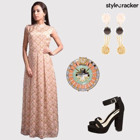 MaxiDress Prints EmbellishedClutch Summer - StyleCracker