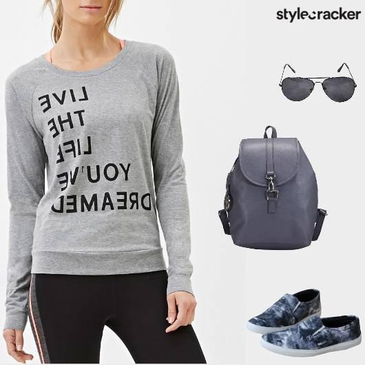 Casual College Sweatshirt Backpack - StyleCracker