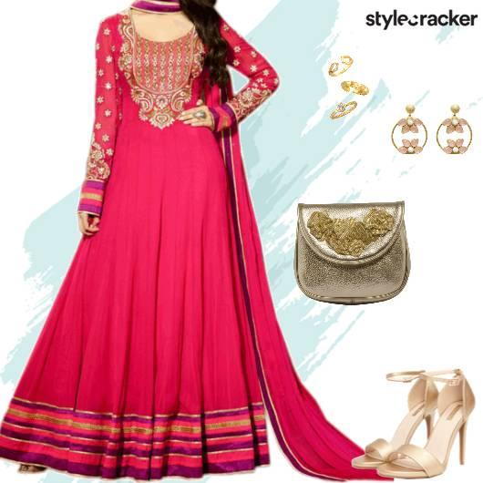 Ethnic Indian Anarkali Suit Wedding - StyleCracker