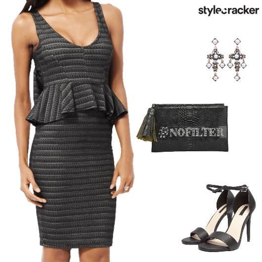 Weekend Party Peplum Dress - StyleCracker
