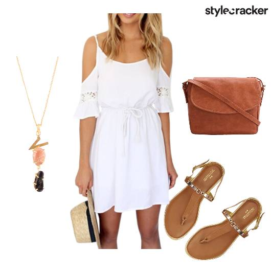 SummerReady Tan ColdShoulder Flats - StyleCracker