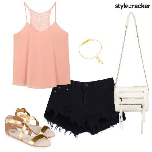SummerDressing StrappyFlats DistressedShorts  - StyleCracker