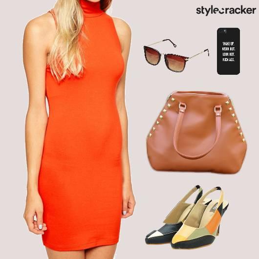 Bodycon Dress Tote Slingback Footwear Lunch - StyleCracker