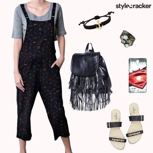 Casual Dayout College Jumpsuit - StyleCracker