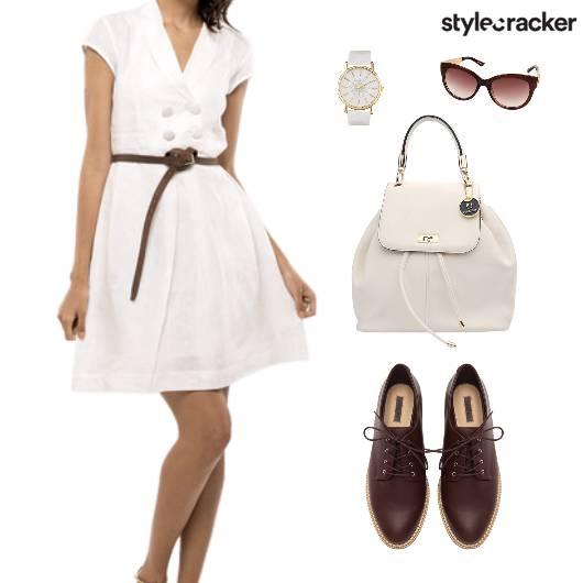 Collar Dress Oxford BackPack Lunch  - StyleCracker